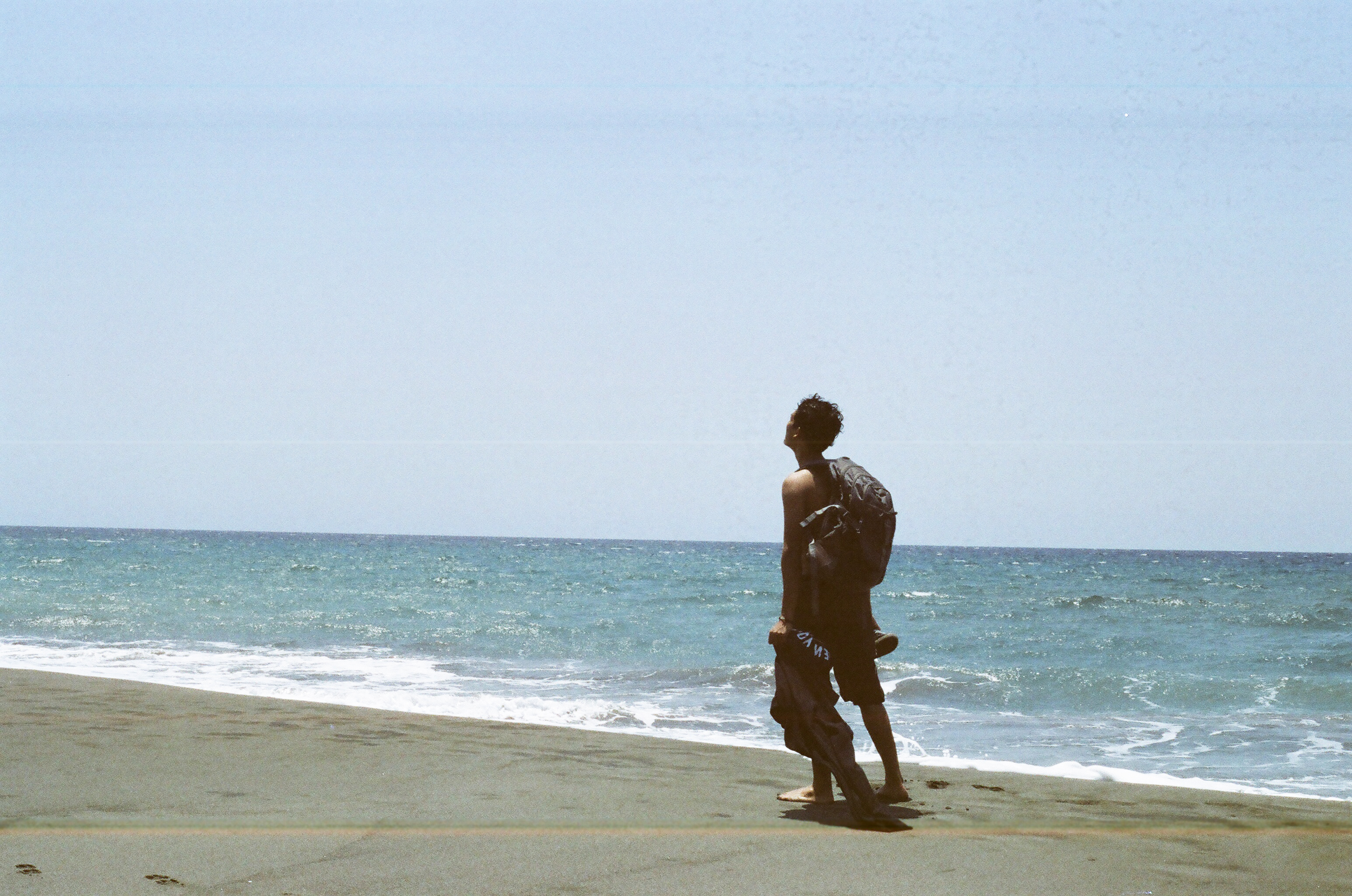 Chad in Playa de Oro beach photo by me