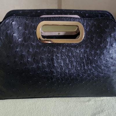 TMART Reviews: Ostrich Pattern Gold-Chain Handbag
